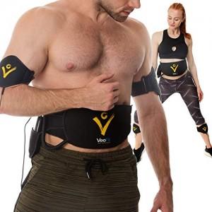 VEOFIT-Ceinture-Abdominale-Electrostimulation-et-Musculation-EMS-Electrostimulateur-Musculaire-Abdominaux-Bras-Cuisses-et-Mollets-Homme-et-Femme-Guide-Fitness-et-Nutrition-et-Sac-Inclus-0